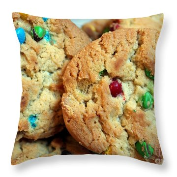 Rainbow Cookies Throw Pillow by Barbara Griffin