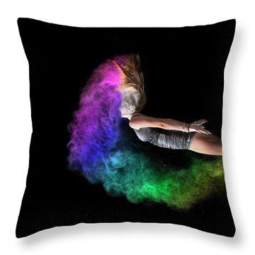 Rainbow Crescent Throw Pillow