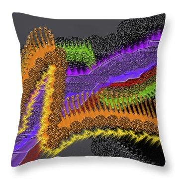 Rainbow Currents Throw Pillow
