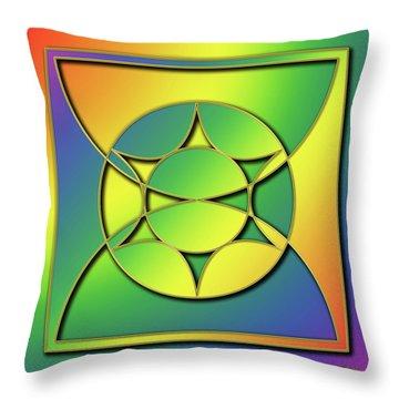 Throw Pillow featuring the digital art Rainbow Design 3 by Chuck Staley