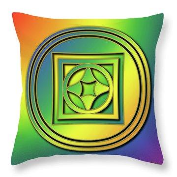 Throw Pillow featuring the digital art Rainbow Design 4 by Chuck Staley