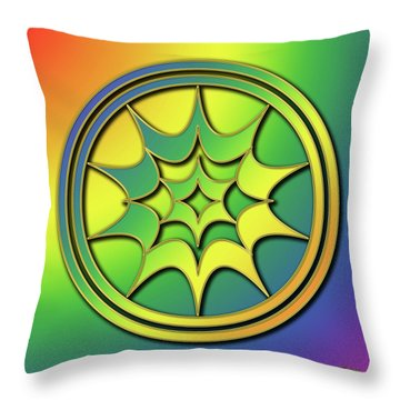 Throw Pillow featuring the digital art Rainbow Design 5 by Chuck Staley