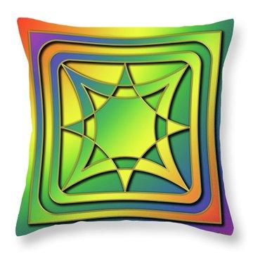 Throw Pillow featuring the digital art Rainbow Design 6 by Chuck Staley