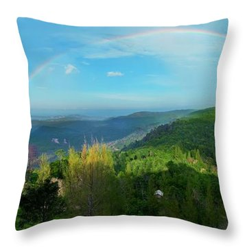 Rainbow Dream Throw Pillow