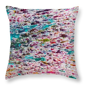 Rainbow Explosion Throw Pillow