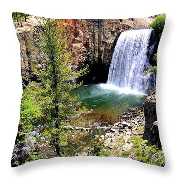 Rainbow Falls 1 Throw Pillow