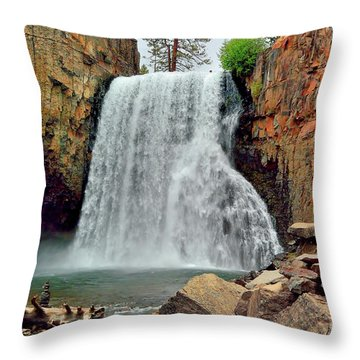 Rainbow Falls 10 Throw Pillow