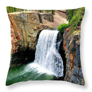 Rainbow Falls 11 Throw Pillow