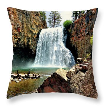 Rainbow Falls 15 Throw Pillow