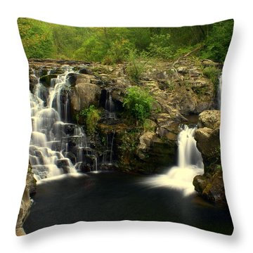 Rainbow Falls  2 Throw Pillow by Marty Koch