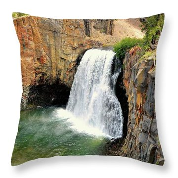 Rainbow Falls 3 Throw Pillow