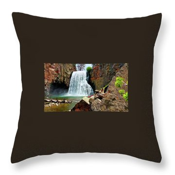 Rainbow Falls 4 Throw Pillow