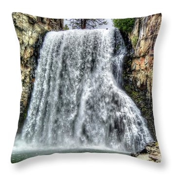 Rainbow Falls 7 Throw Pillow