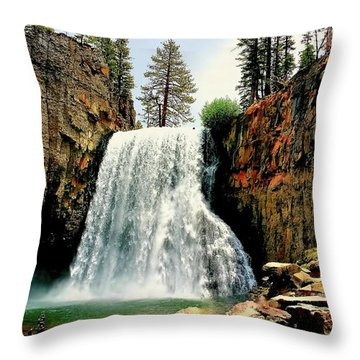 Rainbow Falls 8 Throw Pillow