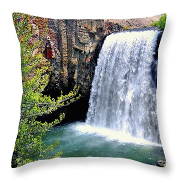 Rainbow Falls 9 Throw Pillow