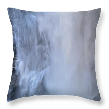 Rainbow Falls In Gorges State Park Nc Throw Pillow by Bruce Gourley