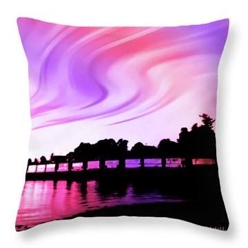 Rainbow Fantasy Throw Pillow