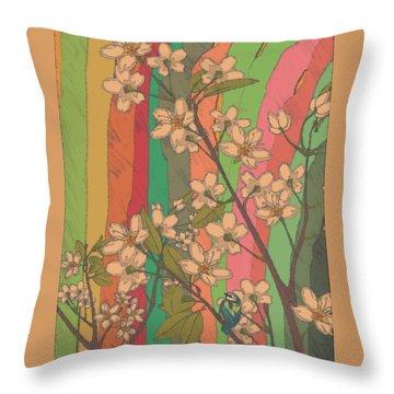 Rainbow Garden Throw Pillow