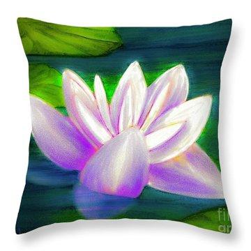 Rainbow Glow Throw Pillow