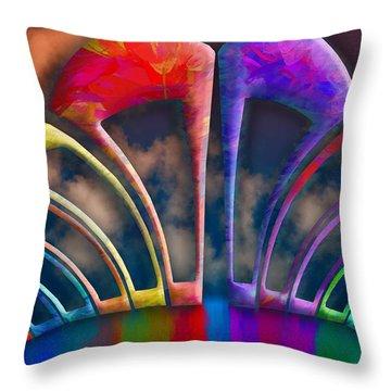 Rainbow Hill Throw Pillow