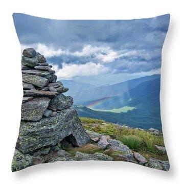 Rainbow In The Mist Nh Throw Pillow