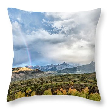 Throw Pillow featuring the photograph Rainbow In The San Juan Mountains by Jon Glaser