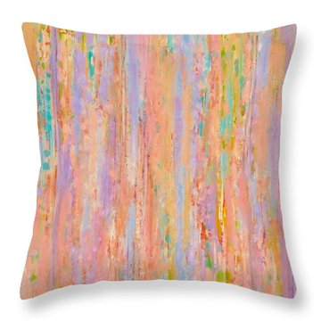 Spring Fusion Throw Pillow by Irene Hurdle