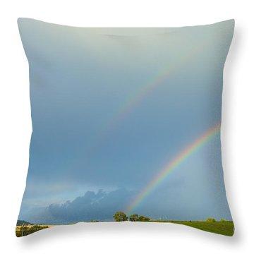 Rainbow Throw Pillow