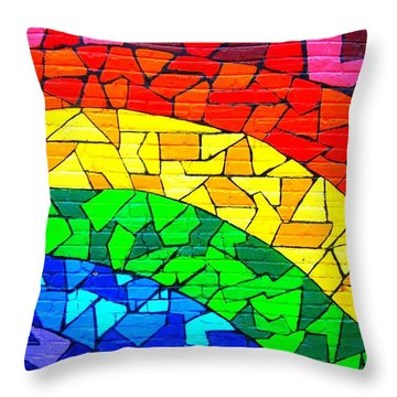 Rainbow ... Throw Pillow by Juergen Weiss