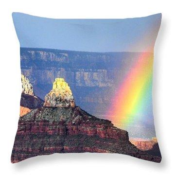 Rainbow Kisses The Grand Canyon Throw Pillow