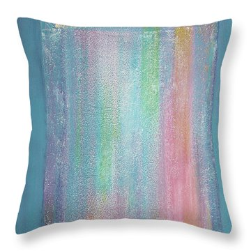 Rainbow Shower Of Light Throw Pillow