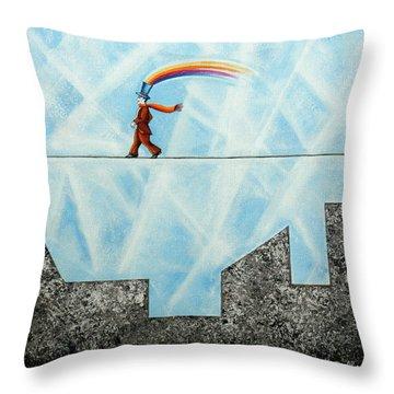 Rainbow Man Throw Pillow