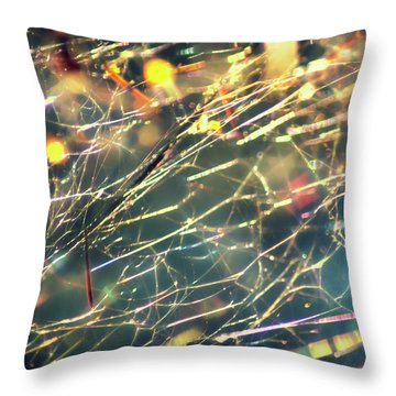 Rainbow Network Throw Pillow