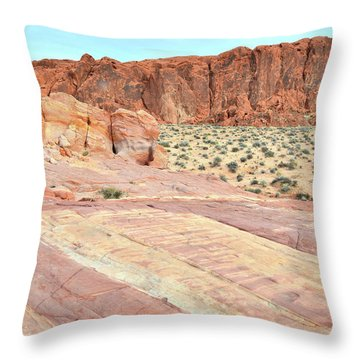 Throw Pillow featuring the photograph Rainbow Of Color In Valley Of Fire by Ray Mathis