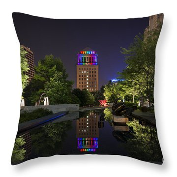 Rainbow Lights Throw Pillow