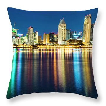 Rainbow On The Water Throw Pillow