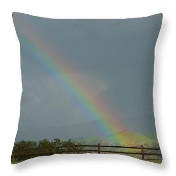 Rainbow On Valhalla Dr. Throw Pillow