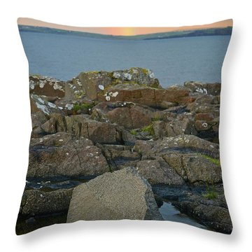 Rainbow Over The Rocks Throw Pillow