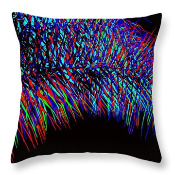 Rainbow Palms Throw Pillow