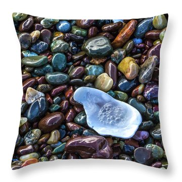 Rainbow Pebbles Throw Pillow