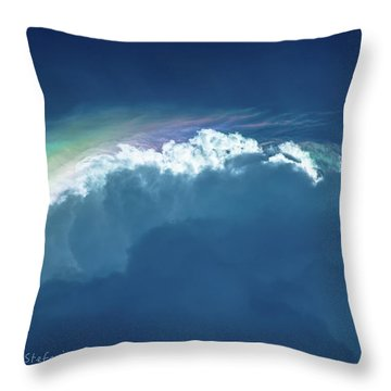 Rainbow Peeking Throw Pillow