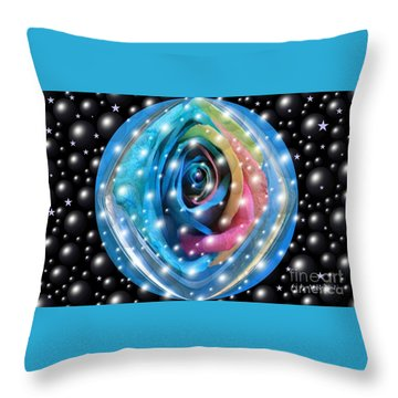 Rose Planet Throw Pillow