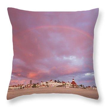 Rainbow Proposal Throw Pillow