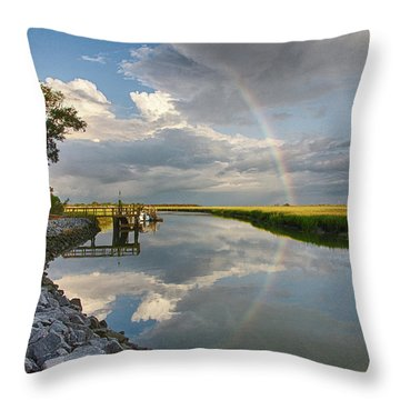 Rainbow Reflection Throw Pillow by Patricia Schaefer