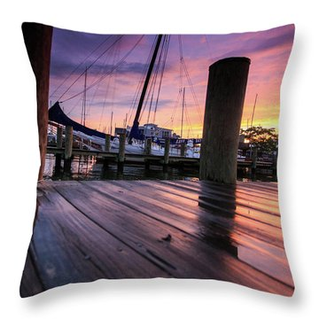 Rainbow Reflections Throw Pillow