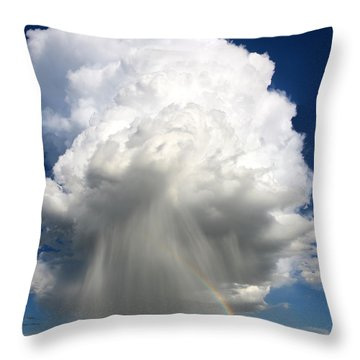 Rainbow Riches Throw Pillow by Victor Gensini