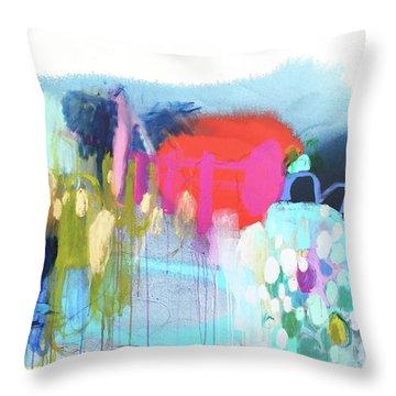 Rainbow Ride Throw Pillow