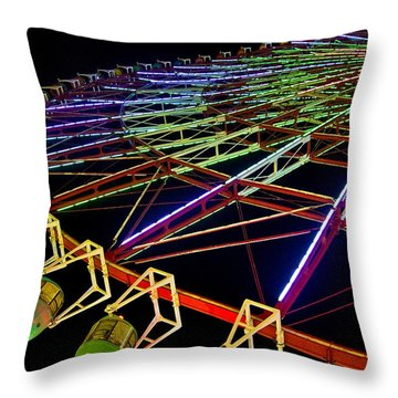 Rainbow Ride Throw Pillow by Dan Wells
