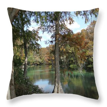 Rainbow River Reflections Throw Pillow