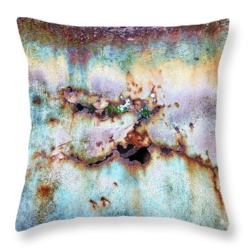 Rainbow Rust Throw Pillow